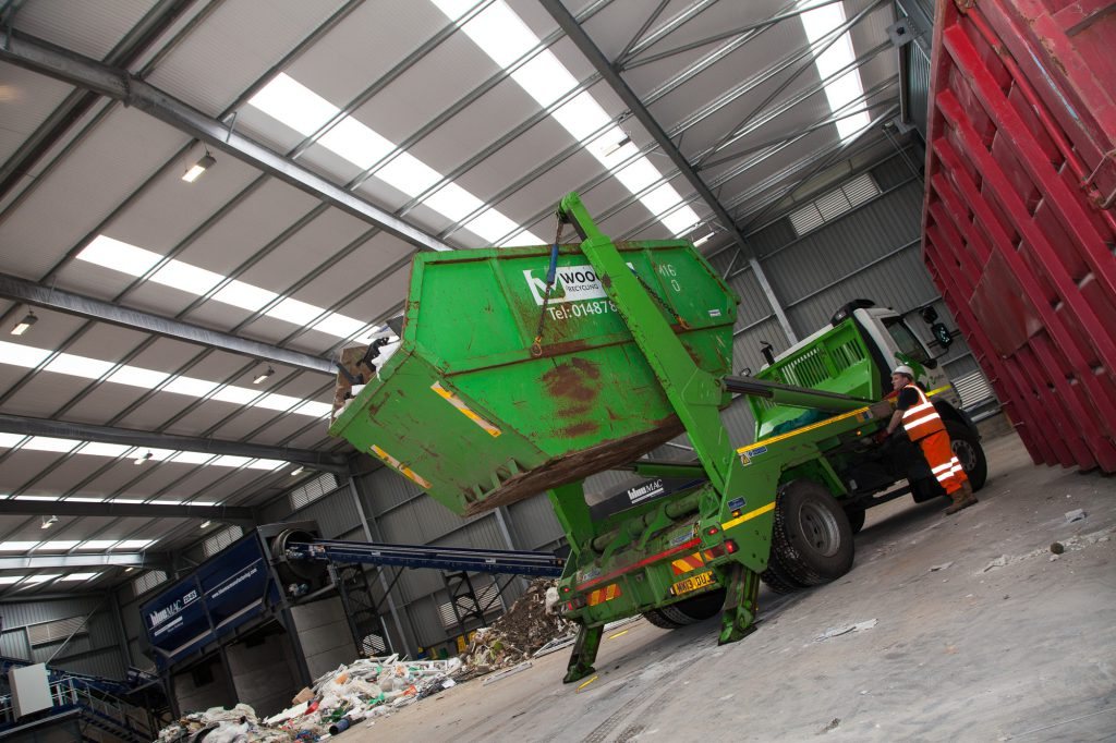 Woodford-recycling-commercial-skip-hire-vehicle